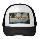 Steamship Going North on St. Clair River, Trucker Hats