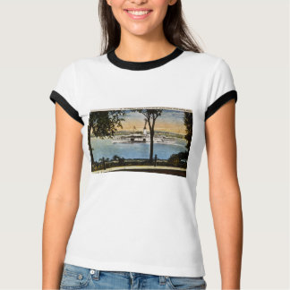 Steamship Going North on St. Clair River T-Shirt