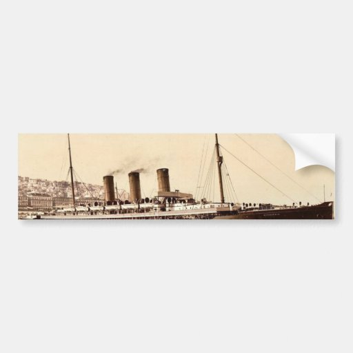 "Steamship ""Normannia"", Algiers, Algeria classic Ph Bumper Stickers"