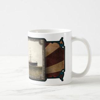 Steamship on Sea. Age of Steam #009. Coffee Mug