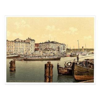 Steamship wharf, Stettin Harbor, Pommeraina, Germa Postcard