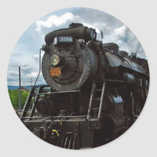 steamtown classic round sticker
