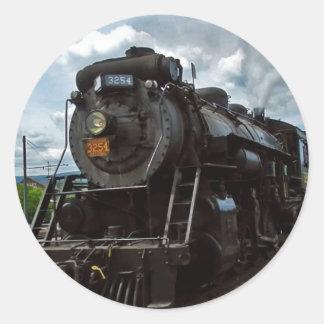 steamtown classic round sticker