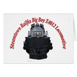 Steamtown Railfest Text Big Boy X4012 Card