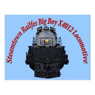Steamtown Railfest Text Big Boy X4012 Postcard