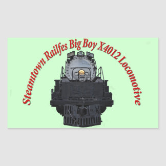 Steamtown Railfest Text Big Boy X4012 Rectangular Sticker