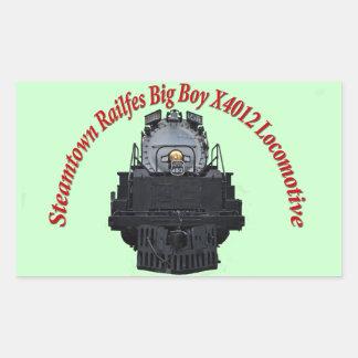 Steamtown Railfest Text Big Boy X4012 Rectangular Sticker