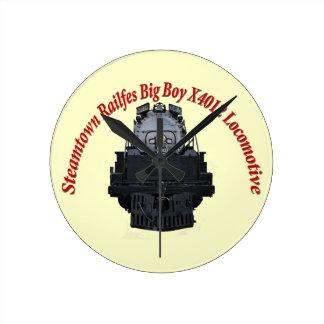 Steamtown Railfest Text Big Boy X4012 Round Clock