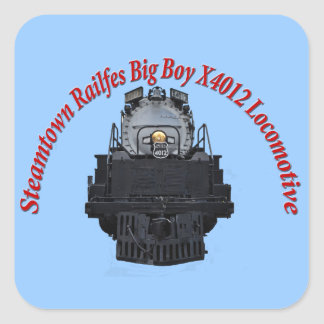 Steamtown Railfest Text Big Boy X4012 Square Sticker