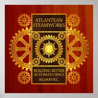 Steamworks de la Atlántida - oro en Cherrywood Impresiones