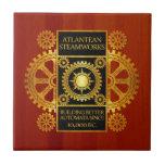 Steamworks de la Atlántida - oro y cuero en la mad Azulejo Cerámica