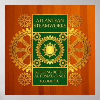 Steamworks de la Atlántida - oro y verde en la mad Impresiones