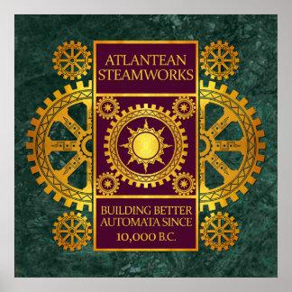 Steamworks-Oro de la Atlántida y púrpura en el már Posters