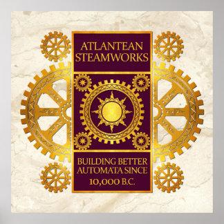 Steamworks-Oro de la Atlántida y púrpura en el már Poster