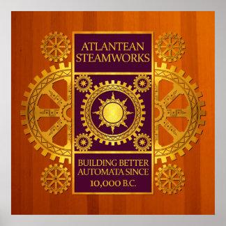Steamworks-Oro de la Atlántida y púrpura en la mad Posters