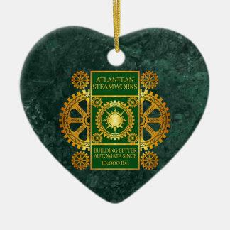 Steamworks-Oro de la Atlántida y verde en el mármo Adorno Para Reyes
