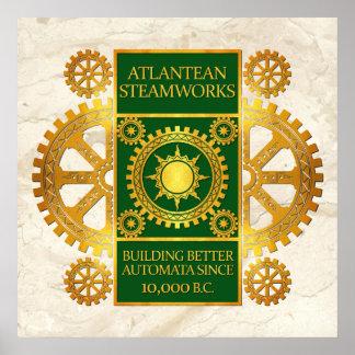 Steamworks-Oro de la Atlántida y verde en el mármo Impresiones