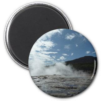 Steamy geysir geyser in Iceland Magnet