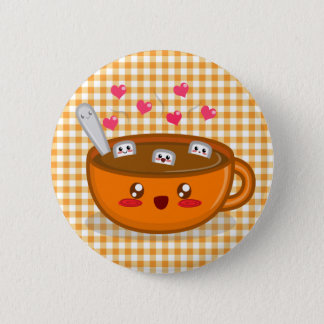 Steamy Hot Chocolate Button
