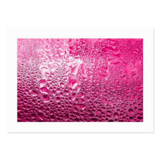 Steamy Pink (bordered) Large Business Card
