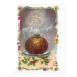 Steamy Plum Pudding Vintage Christmas Post Card