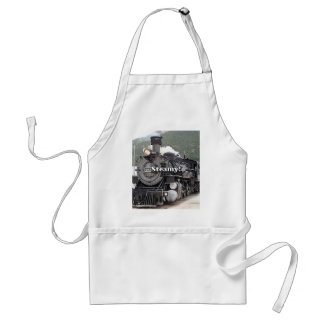 Steamy!: steam train engine, Colorado, USA 8 Adult Apron