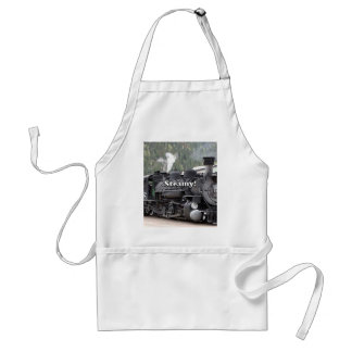 Steamy!: steam train engine, Colorado, USA Adult Apron