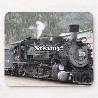 Steamy!: steam train engine, Colorado, USA Mouse Pad
