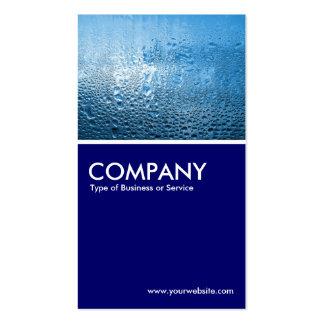 Steamy Window - Deep Navy Business Card