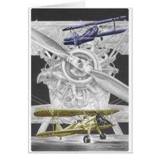 Stearman Biplane Card
