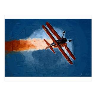 Stearman Biplane Postcard
