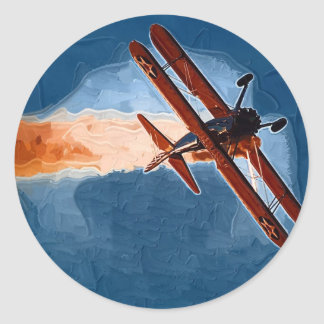 Stearman Biplane Stickers