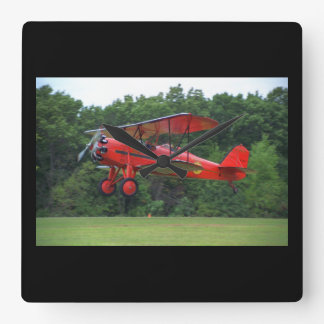 Stearman, C-3R, 1929, Blakesburg_Classic Aviation Square Wall Clock