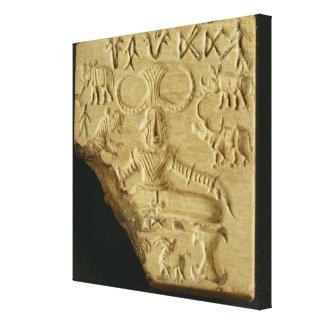 Steatite Pasupati seal, Mohenjodaro, 2300-1750 BC Canvas Print