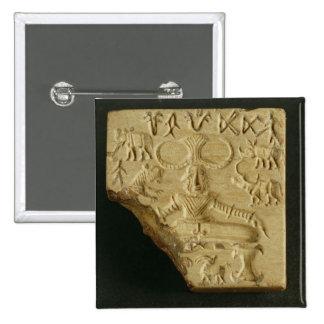 Steatite Pasupati seal, Mohenjodaro, 2300-1750 BC Pinback Button