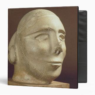 Steatite portrait head, Mohenjodaro, 2300-1750 BC 3 Ring Binders