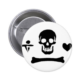 Stede Bonnet authentic pirate flag 2 Inch Round Button