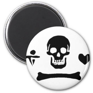 Stede Bonnet authentic pirate flag 2 Inch Round Magnet
