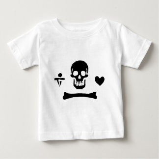 Stede Bonnet authentic pirate flag Baby T-Shirt