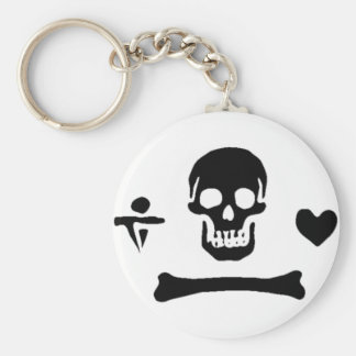 Stede Bonnet authentic pirate flag Basic Round Button Keychain