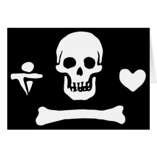 Stede Bonnet authentic pirate flag Greeting Card