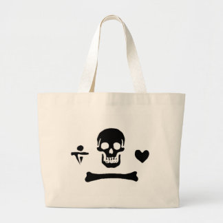 Stede Bonnet authentic pirate flag Jumbo Tote Bag