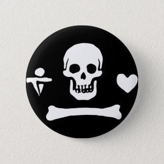Stede Bonnet authentic pirate flag Pinback Button