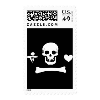 Stede Bonnet authentic pirate flag Postage Stamps