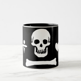 Stede Bonnet authentic pirate flag Two-Tone Coffee Mug