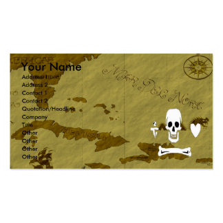 Stede Bonnet Map #14 Double-Sided Standard Business Cards (Pack Of 100)