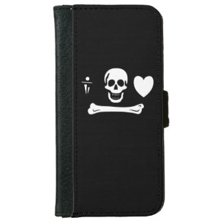 Stede Bonnet Pirate Flag Wallet Phone Case For iPhone 6/6s
