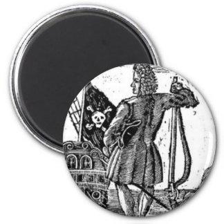Stede Bonnet Pirate Portrait 2 Inch Round Magnet