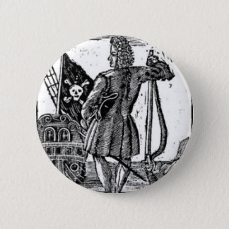 Stede Bonnet Pirate Portrait Pinback Button