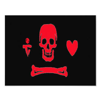 Stede Bonnet-Red 4.25x5.5 Paper Invitation Card
